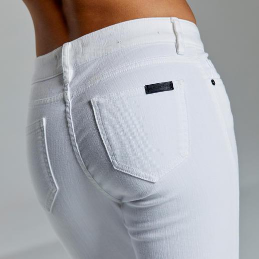 Jean business Strenesse « White » Un jean au bureau ? Seuls quelques-uns sont réellement présentables. Un blanc frais, une coupe impeccable.