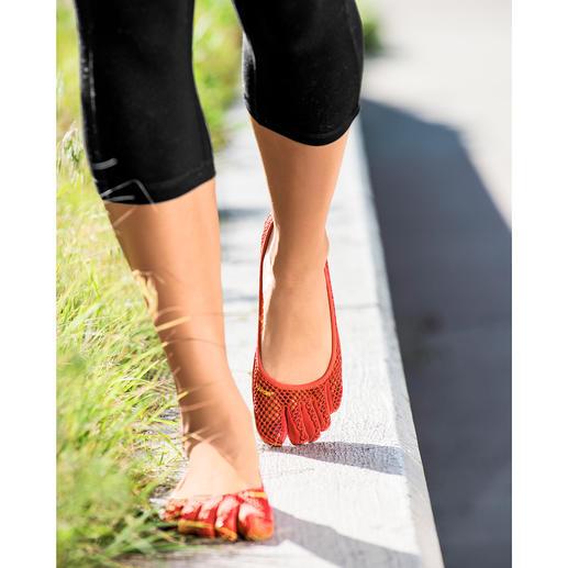 Chaussures FiveFingers® Aussi saines et confortables que si vous marchiez pieds-nus, tout en évitant les blessures et les pieds sales.