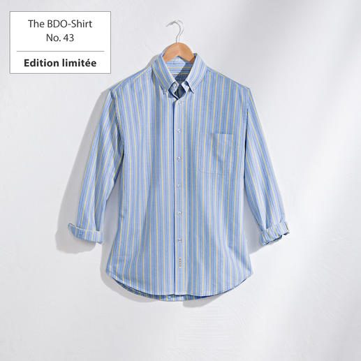 The BDO-Shirt No.43, rayé Découvrez une bonne vieille sensation de confort. Et oubliez qu'une chemise doit être repassée.