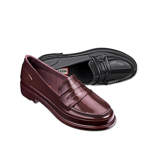Penny Loafer Hunter Stylé, imperméable et ultra confortable. Le Penny Loafer en 100 % caoutchouc naturel. Du spécialiste Hunter.