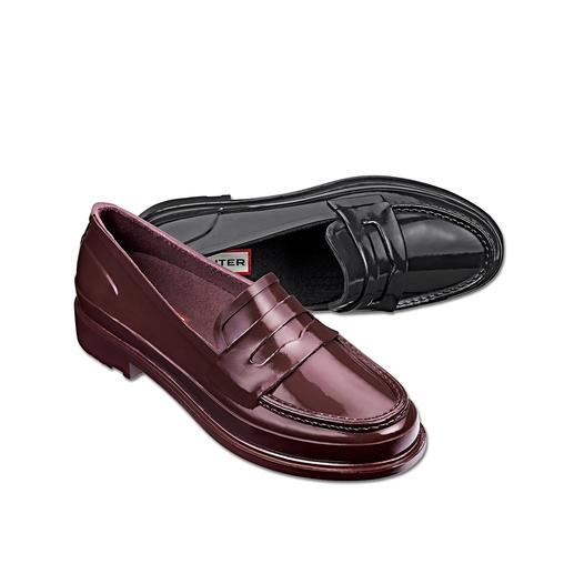 Penny Loafer Hunter Stylé, imperméable et ultra confortable. Le Penny Loafer en 100 % caoutchouc naturel. Du spécialiste Hunter.
