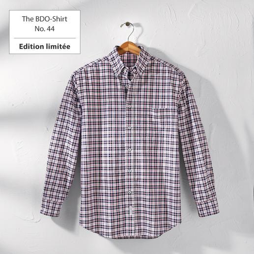 The BDO-Shirt No.44, à carreaux Redécouvrez une bonne vieille sensation de confort. Et oubliez qu'une chemise doit être repassée.