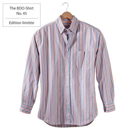 The BDO-Shirt No.45, rayé Redécouvrez une bonne vieille amie. Et oubliez qu'une chemise doit être repassée.