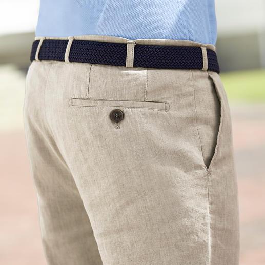 Pantalon d'affaire en lin Hoal Un lin qui froisse moins.