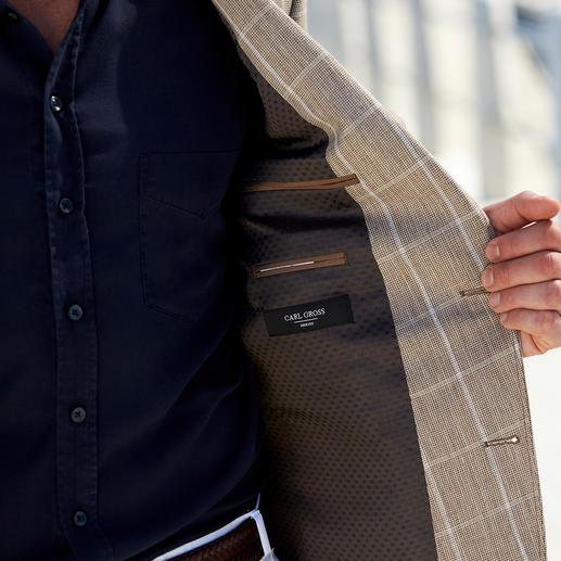 Veston en lin Carl Gross Le confort aérien du lin, sans son aspect froissé.  Une allure impeccable même par 30 degrés à l'ombre.