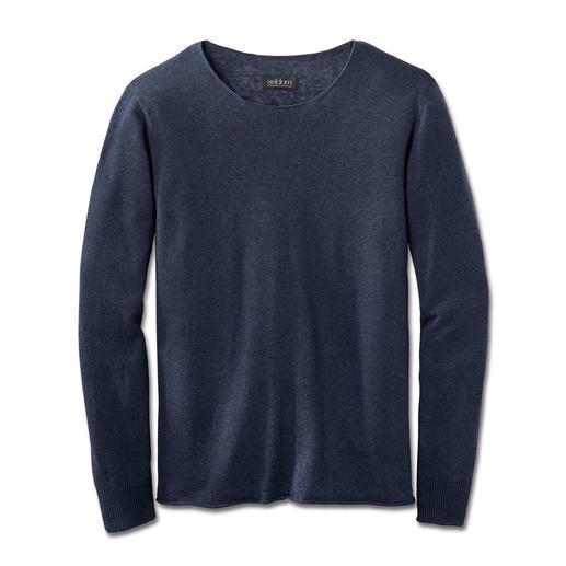 Pull-over d'été Smart-casual Un poids plume de 150 grammes incroyablement polyvalent. Pull-over aéré en tricot fin.