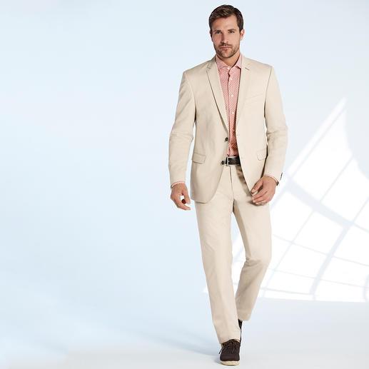 Costume en coton « Ceramica » Carl Gross Le costume idéal pour les affaires et en voyage : drap de coton estival, très peu froissable. Par Carl Gross.