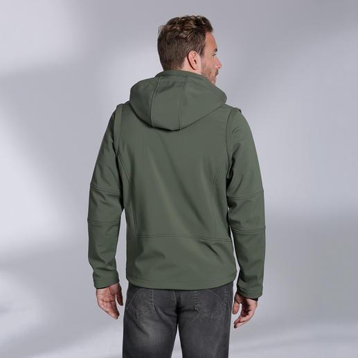 Veste en softshell homme, Olive Élancée, légère et pourtant bien chaude. Veste en softshell, avec WindProtect®.