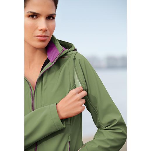 Veste en softshell femme Élancée, légère et pourtant bien chaude. Veste en softshell, avec WindProtect®.