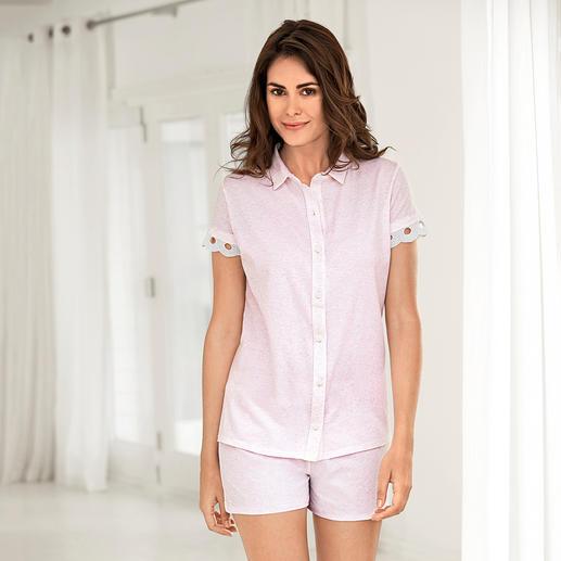 Pyjama d'été Pluto Bien plus élégant (et plus habillé) que les pyjamas pour femme habituels. Un modèle féminin et non pas unisexe.
