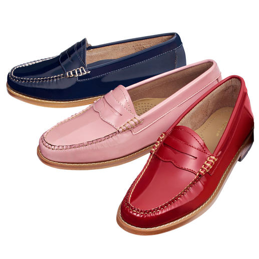 Penny loafer G. H. Bass « Weejun » Le mocassin original, par l'inventeur du penny loafer. Par G. H. Bass & Co. État du Maine/USA.