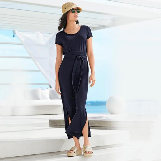 Maxi-robe en Tencel® Une robe en jersey d'une élégance indiscutable. Jersey Tencel à l'aspect soyeux. Maxi-silhouette actuelle.