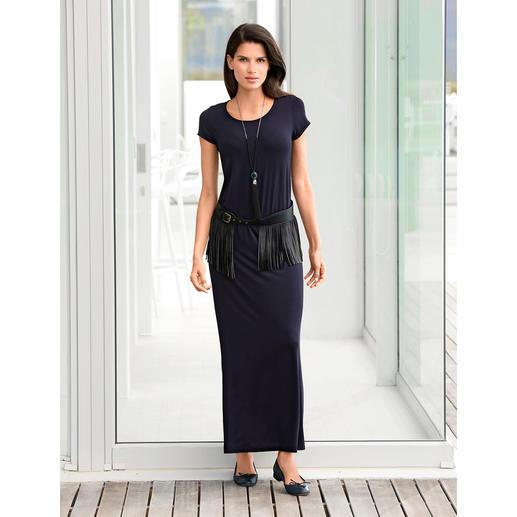 Maxi-robe en Tencel® Une robe en jersey d'une élégance indiscutable. Jersey Tencel® à l'aspect soyeux. Maxi-silhouette actuelle.