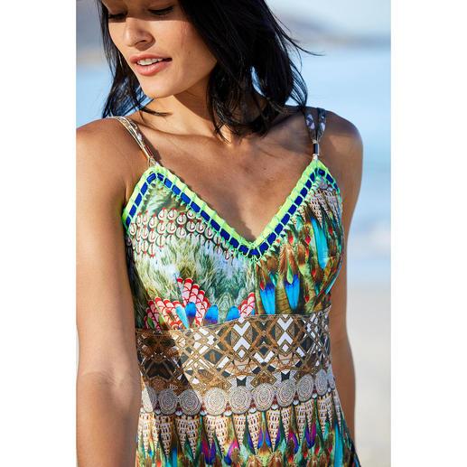 Maillot de bain ethnique Ruby Yaya Le maillot de bain au look ethnique en vogue. Présenté dans les magazines de mode internationaux.