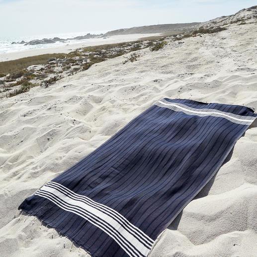 Drap de plage Vaca Vaca Une pièce unique tissée à la main : le drap de plage par Vaca Vaca. Aussi douce et absorbante que l'éponge.