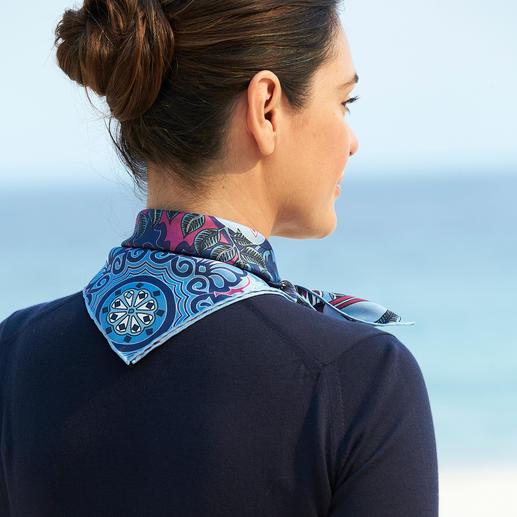 Foulard en soie Sieger Un foulard en soie, haut en couleurs. Un accessoire à combiner de mille et une façon. Un modèle signé Sieger.