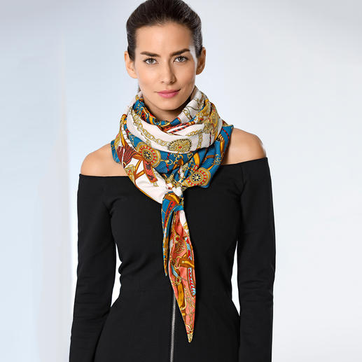 Foulard surdimensionné Ebony & Ivory Bel effet surdimensionné en vogue : le foulard XXL, par la célèbre marque d'accessoires Ebony & Ivory.