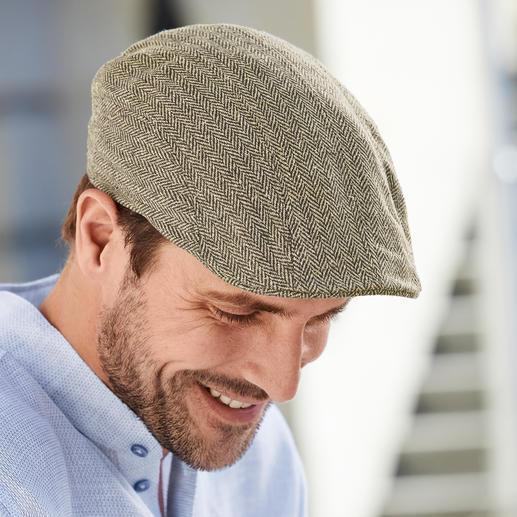 Casquette plate en soie Stetson Plus élégante et plus aérée que bien d'autres : la casquette en pure soie. Véritable tissu Magee d'Irlande.