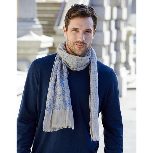 Foulard au mélange d'imprimés Pellens & Loick Le plus élégant des foulards au mélange de divers imprimés. Design allemand et fabrication italienne.