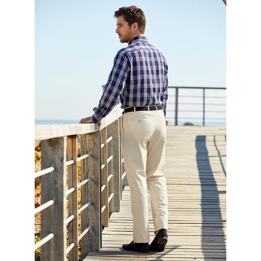 Chemise en étamine Ingram Un style impeccable par 30 °C et plus : la chemise en étamine rare. Opaque et toujours impeccable.