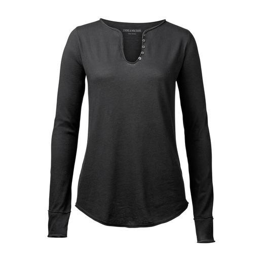 Shirt à manches longues signature Zadig & Voltaire Toujours approprié et toujours bienvenu : le shirt signature de la célèbre marque parisienne Zadig & Voltaire.