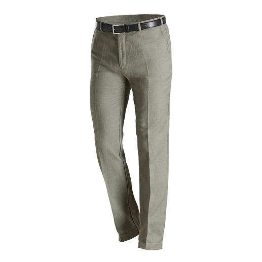 Pantalon en lin Hoal Une toile rare, à base de lin : portez votre tissu estival favori même lors de froides journées.