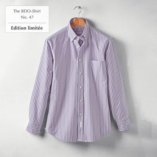 The BDO-Shirt No.47, rayé Redécouvrez une bonne vieille sensation de confort. Et oubliez qu'une chemise doit être repassée.