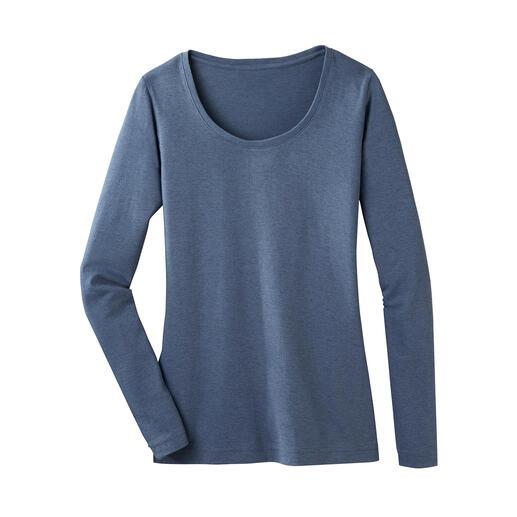 Shirt en coton Pima  et alpaga Le shirt basique parfait, tenant bien chaud l'hiver. Une composition réussie de coton Pima et de baby alpaga.