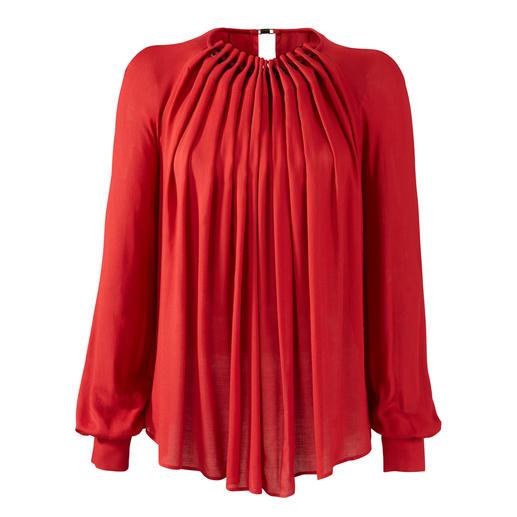 Blouse Plein Sud Jeanius Tendance, large et pourtant flatteuse et mince. La blouse à bascule en twill de viscose fluide. De Plein Sud.