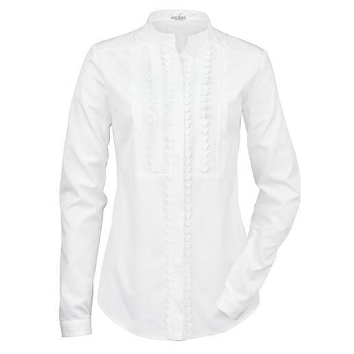 Chemisier à col montant van Laack Le spécialiste de la chemise van Laack relance la tendance du chemisier basique blanc.