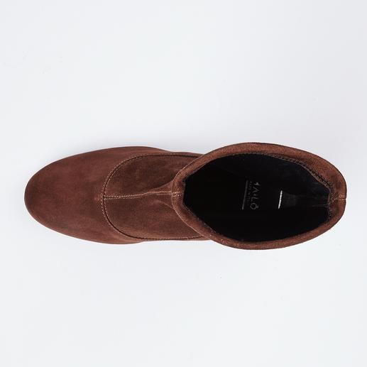 Bottines ou Bottes stretch Ma&Lo Des bottes en velours stretch plus résistantes, chef d'œuvre de cordonnerie italienne de qualité.