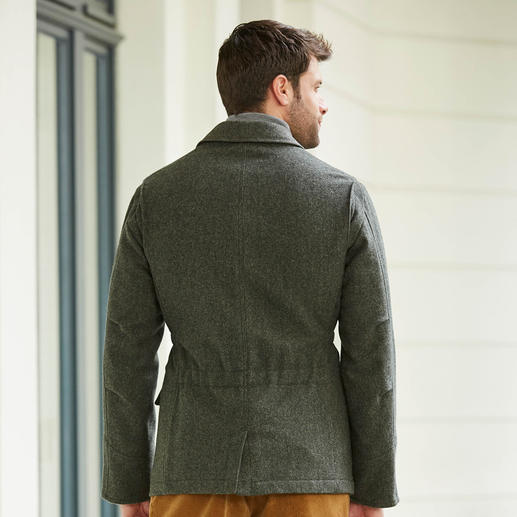 Veste Hunting Jacket La veste de chasse en pure laine vierge. Naturellement chaude et déperlante.