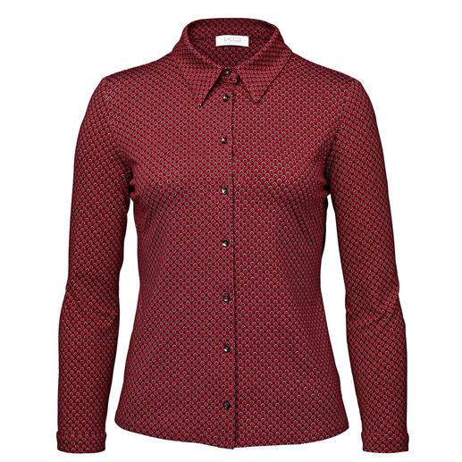 Chemise en jersey KD-Klaus Dilkrath, rouge/noir Aussi élégante qu'un chemisier. Aussi confortable qu'un T-shirt. Par KD-Klaus Dilkrath.
