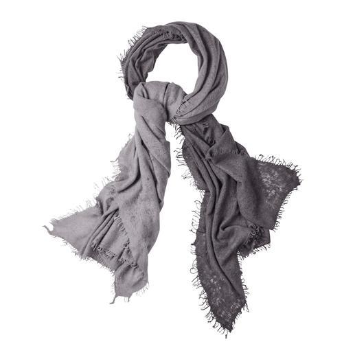 Foulard en cachemire « Dip-Dye » Purschön Un accessoire unique, loin de la production de masse. Tout l'art du cachemire népalais. Teinté à la main.