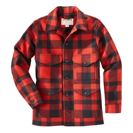 Veste de bûcheron en laine Filson Naturellement réchauffante. Imperméable. Indestructible. En 100 % laine vierge.  Par C.C. Filson.