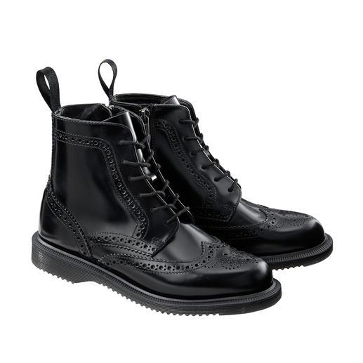 Brogue Boots Dr. Martens Dr. Martens original, chaussure culte de 1960 – au look d'aujourd'hui. Ligne féminine. Perforation Lyra.