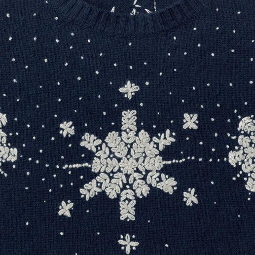Pull-over cachemire Heartbreaker « Conte d'hiver » Le modèle de luxe parmi les pulls de Noël les plus tendance. Par le label allemand Heartbreaker.
