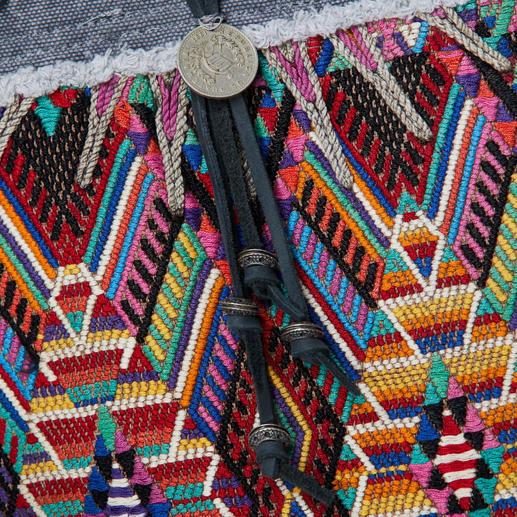 Cabas Huipil Smitten Cabas ethnique très tendance avec motif Huipil tissé main au Guatemala. Édition limitée à 250 pièces. Smitten.