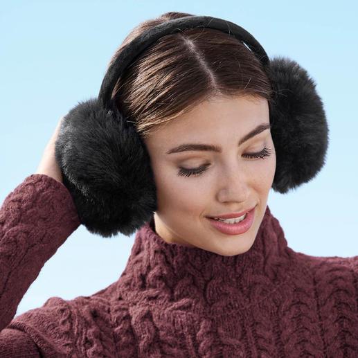Chauffe-oreilles en fausse fourrure UNECHTA - Chauffe-oreilles tendance, signés UNECHTA – spécialiste allemand des accessoires de luxe en fausse fourrure.