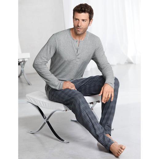 Pyjama « Perfect blend » Hanro La combi pyjama parfaite : un haut incroyablement doux en MicroModal + un pantalon en flanelle de coton.