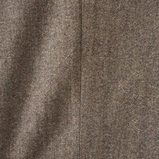 Pantalon en toile Soft-Donegal Tweed Donegal original. Incomparablement doux grâce aux 46 % de coton. Tissé par Abraham Moon & Sons.