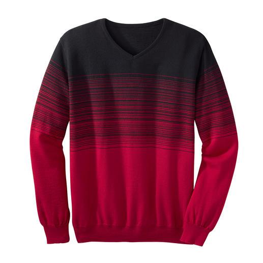 Pull à rayures et dégradé de couleurs Dégradé de couleur attrayant : la manière peu habituelle et tendance de porter des rayures.