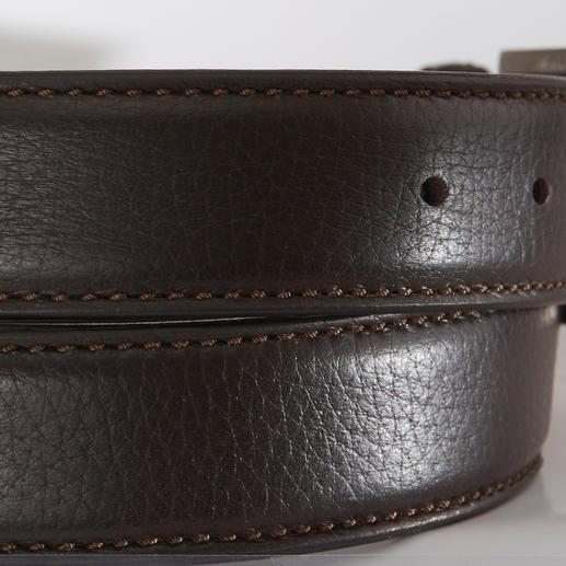 Ceinture en cuir d'élan Belts La ceinture en rare cuir d'élan. Très douce, souple et pourtant robuste. Fabriquée en Italie. Par Belts.