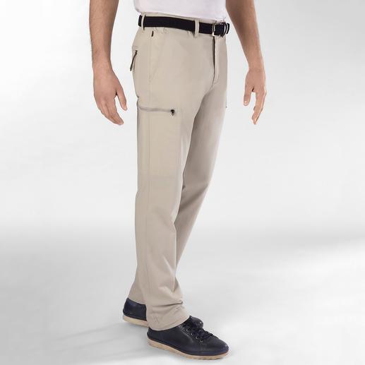 Pantalon cargo fonctionnel Aigle Poches minces. Haute teneur en coton. Fonction invisible. Par Aigle, France.
