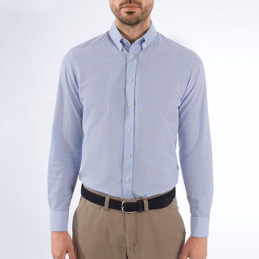 Chemise seersucker Hackett London Aérée, mais jamais trop décontractée : la chemise en seersucker et à l'élégance britannique. De Hackett London.