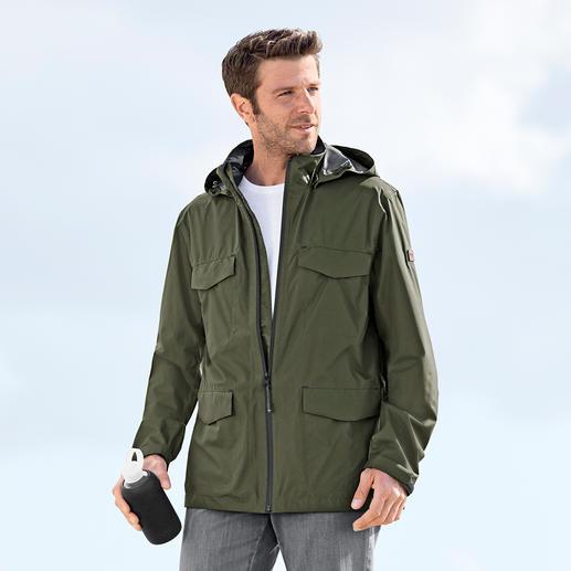 Veste fonctionnelle «ultralégère» Aigle pour homme La plus légère des vestes fonctionnelles. Avec système 2,5 couche respirant, imperméable et coupe-vent.