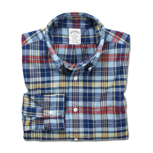 Chemise Madras Brooks Brothers La chemise Madras originale – traditionnellement tissée à la main en Inde. Par Brooks Brothers.