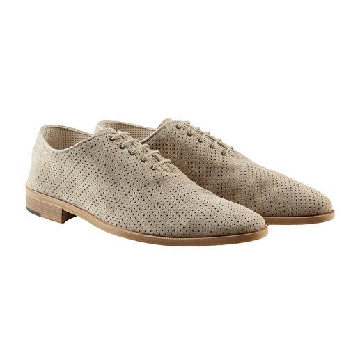 Derby estival Andrea Zori Aussi noble qu'une chaussure d'affaires. Aussi aéré qu'une sandale. Fabriqué en Italie. Par Andrea Zori.