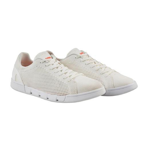 Sneaker Wash&Wet Swims La sneaker blanche toujours propre. Lavable en machine. Résistante à l'eau de mer. Séchage rapide. De Swims.