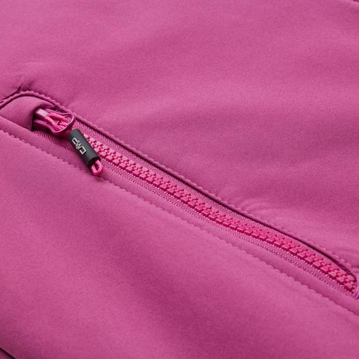 Veste en softshell, femme, baie Élancée, légère et pourtant bien chaude. Veste en softshell, avec WindProtect®.